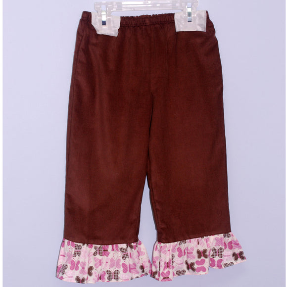 Brown Cord Girls Pull on Pant