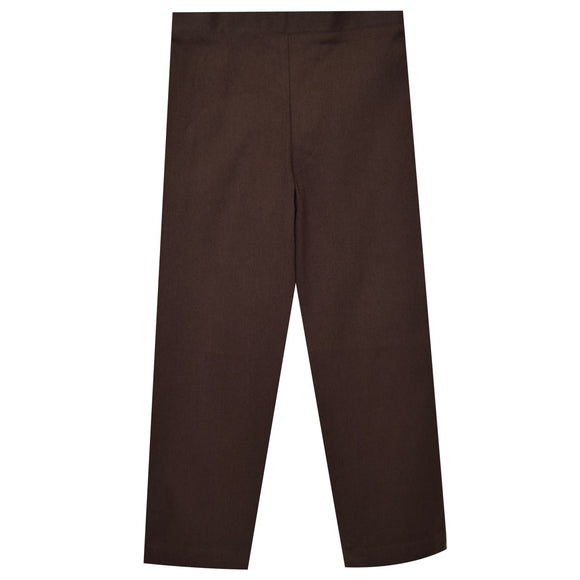 Brown Twill Girls Pull on Pant