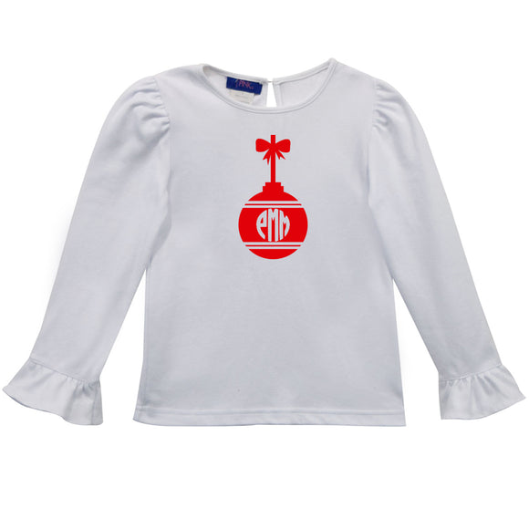 Ornament Heat Transfer Girls T-Shirt Long Sleeve