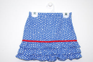 Blue Royal with Dots Rufle Skirt