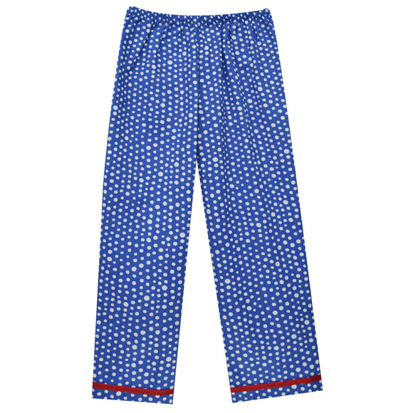 Royal Polka Dot Girls Pants