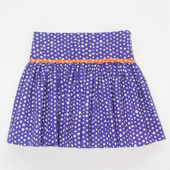 Purple Polka Dot Skirt