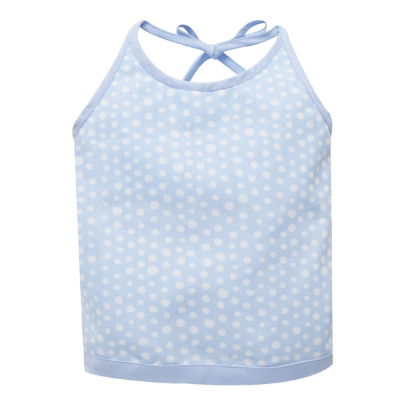 Blue and White Dots Halter Blouse