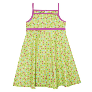 Lime With Dots Circle Dress