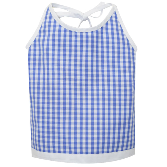 Royal Check Halter Blouse