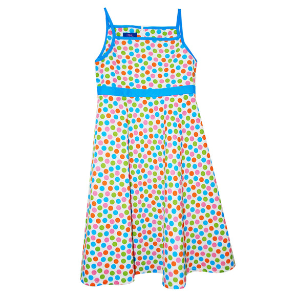 Multicolor Dots Circle Dress