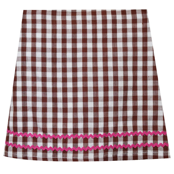 Brown Check Skort