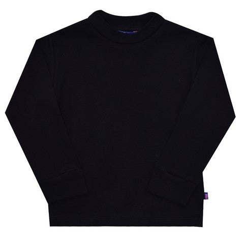 Black Mock Neck