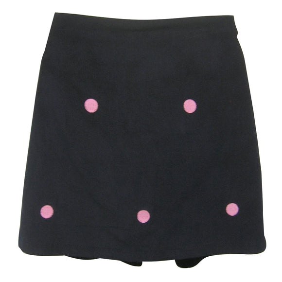Pink Dot Embroidered Skort