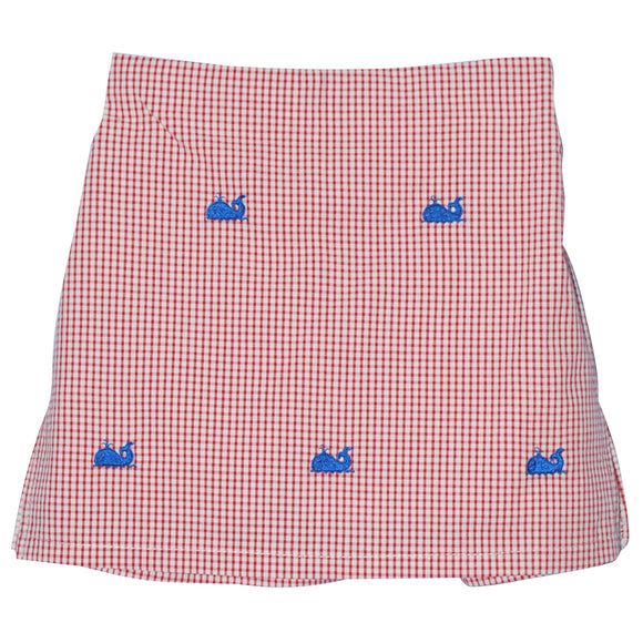 Whales Embroidered Skort