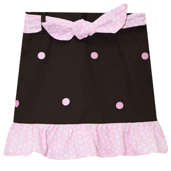 Pink Dots Embroidery Skirt