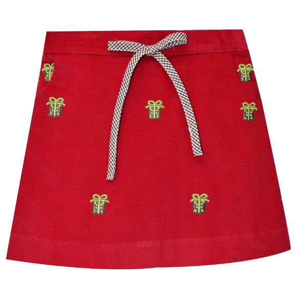 Presents Embroidery Skirt