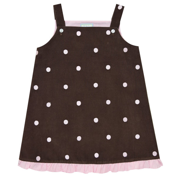 Pink Dots Embroidery Jumper