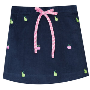 Apple and Pear Embroidery Skirt