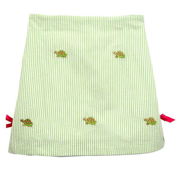 Turtle embroidered Skort