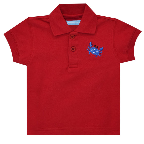 Crab Red Polo Box Shirt