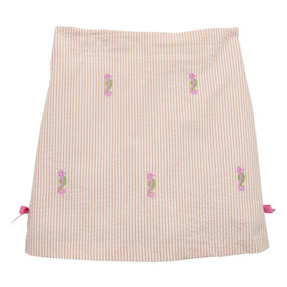Seahorses Embroidered Skort