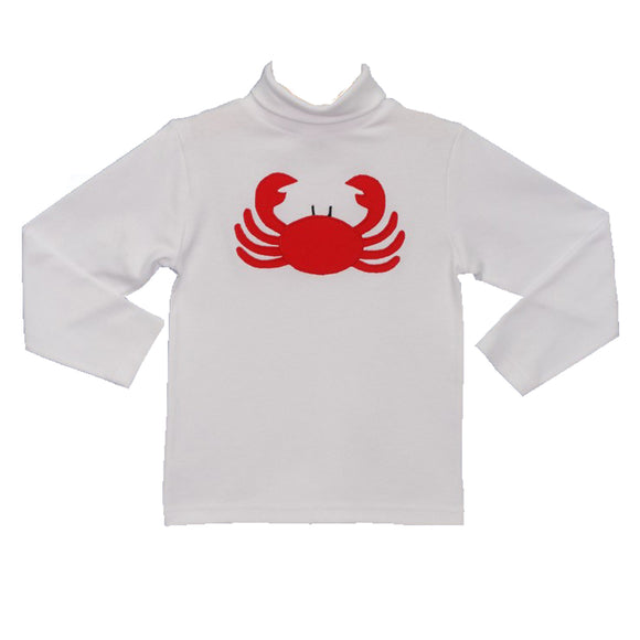 Applique Crabs Boys Turtle Neck