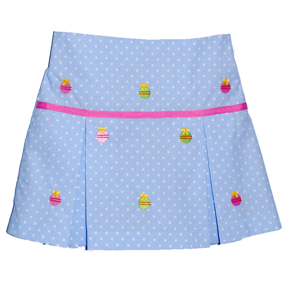 Embroidered Ornaments Skort