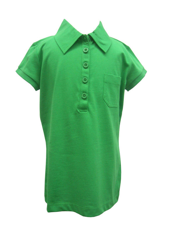 Bright Green Polo Blouse