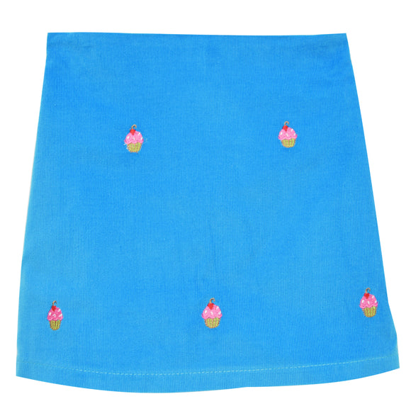 Cupcakes Embroidered Skort
