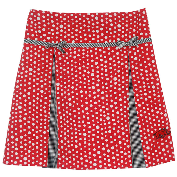 Arkansas Pleated Polka Dots Skirt