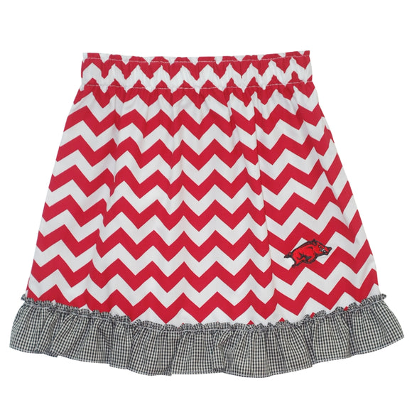 Arkansas Ruffle Chevron Skirt