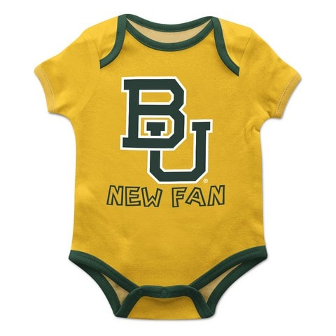 Baylor Solid Gold Boys Onesie Short Sleeve