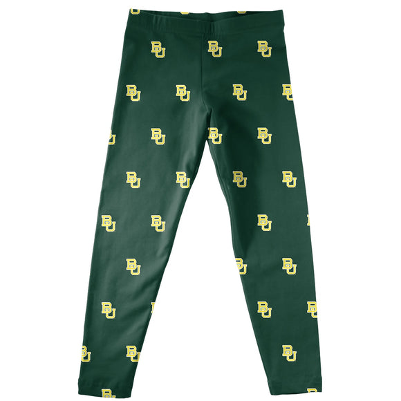 Baylor Print Green Leggings
