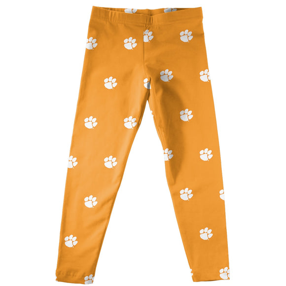 Clemson Print Orange Leggings