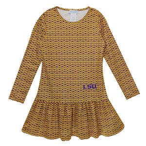 NCAA Louisiana State University Long Sleeve Lily Dress