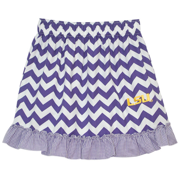 LSU Ruffle Chevron Skirt