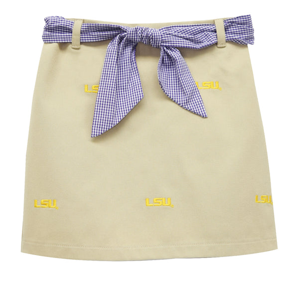 LSU Embroidered Skort