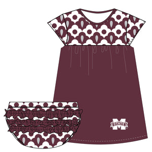 Mississippi State Cap Sleeve Dress and Bloomer