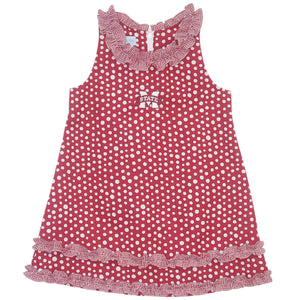 Mississippi State Ruffle Polka Dot Dress