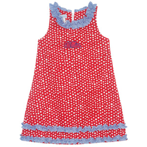 Mississippi Ruffle Polka Dots Dress