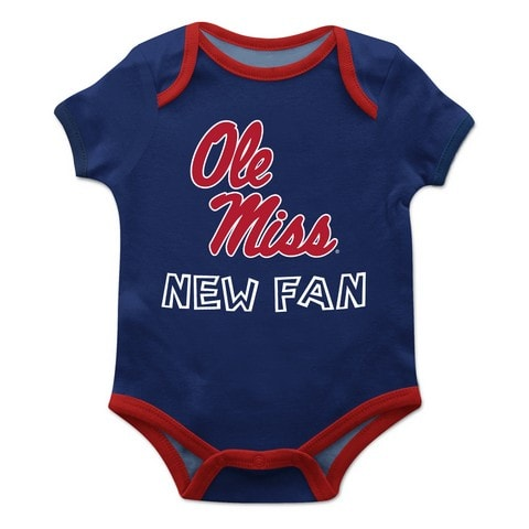 Mississippi Solid Navy Blue Boys Onesie Short Sleeve