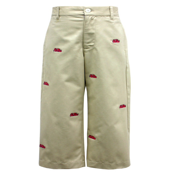 Embroidered Mississippi Boys Structured Pants