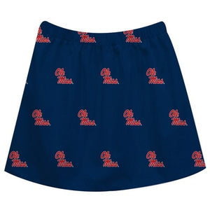 Mississippi Print Navy Blue Skirt