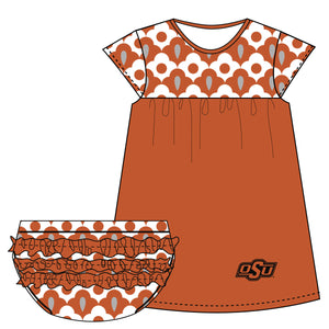 Oklahoma State Cap Sleeve Dress and Bloomer