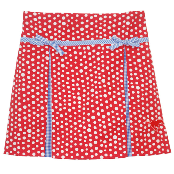 SMU Pleated Polka Dot Skort
