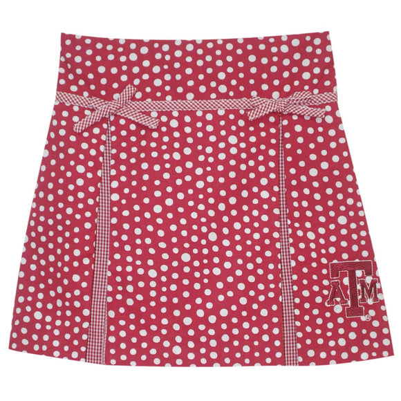 Texas AM Pleated Polka Dot Skort