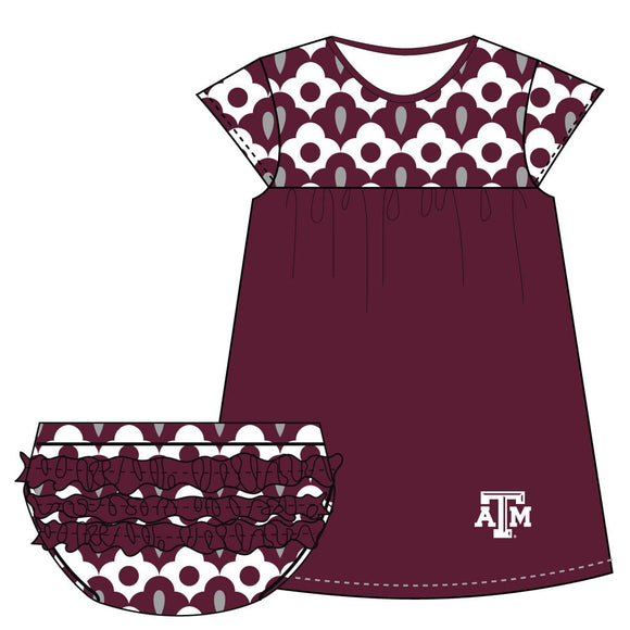 Texas AM Cap Sleeve Dress and Bloomer