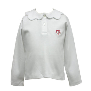 Embroidered Texas AM Knit Pico Blouse