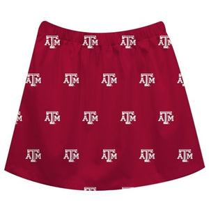 Texas AM Print Maroon Skirt