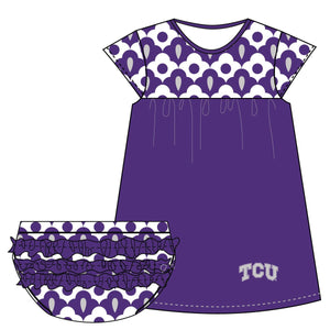 TCU Cap Sleeve Dress and Bloomer