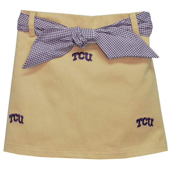 Embroidered TCU Skort