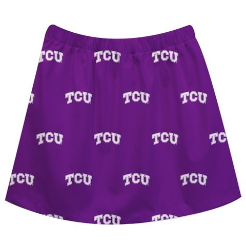 TCU Print Purple Skirt