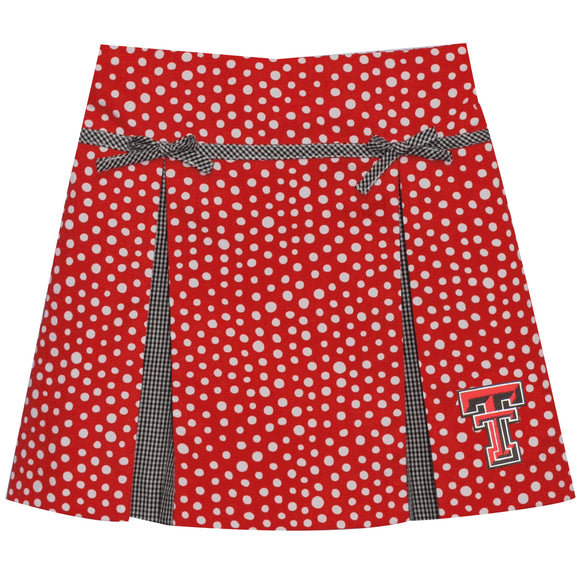 Texas Tech Pleated Polka Dot Skort