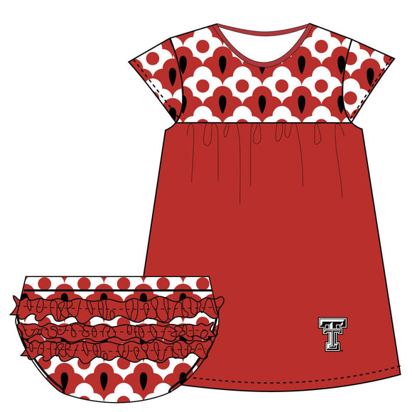 Texas Tech Cap Sleeve Dress and Bloomer